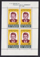 SENEGAL BLOC N°    2 ** MNH Neuf Sans Charnière, TB (CLR181) Anniversaire De La Mort Du Président John F. Kennedy -1964 - Sénégal (1960-...)