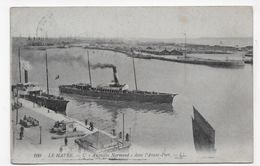 (RECTO / VERSO) LE HAVRE - N° 100 - L' AUGUSTIN NORMAND - CACHET POSTES MILITAIRES BELGE  - CPA VOYAGEE - 76 - Ferries