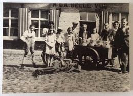 Fotokaart (repro) Jérôme Allegaert Brugstraat Hulste 'A La Belle Vue' - Desselgem Laitier Melkventer - Harelbeke