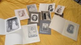 LOT DE 11 PHOTOS ANCIENNES DATE ?. / DIVERS PORTRAITS FORMAT DIFFERENTS./ STUDIO BAROUX DIJON, GERARD ALGER... - Anonymous Persons