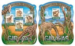 MOZAMBIQUE 2015 - Giraffes, Mushrooms - YT 6546-9 + BF963 - Paddestoelen