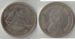TUVALU 10 DOLLARS 1970  ARGENT - Tuvalu