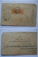 MALAYA - Malay Federated States - 1935 Tiger Cover Kelantan To Kandramanikam South India - Federated Malay States
