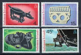 British Solomon Islands 1975 Artifacts 1st Series Unmounted Mint Set Of Stamps. - British Solomon Islands (...-1978)