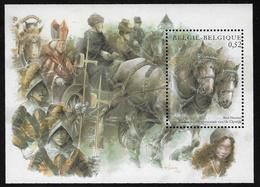 Belgium SG MS3716 2002 Horses Miniature Sheet Unmounted Mint [36/30404/6D] - Blocks & Sheetlets 1962-....