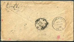 1908 India Cover + Letter (english) - Sidney,Ohio, USA - India (...-1947)