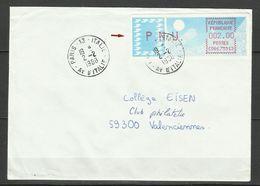 FRANCE 1988, Vignette De Distributeur PNU Sur Lettre - 1988 «Comète»