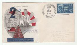 1956 USA Philatelic Exhibition BILTMORE HOTEL Los Angeles LABEL EVENT COVER Stamps - Esposizioni Filateliche