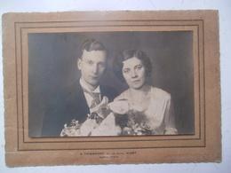 Oude Foto Van Echtpaar Door A. Thienpont  ALOST - Vieux Papiers
