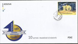 KOS 2018-03 10 YEARS INDEPENDENCE OF KOSOVO REPUBLIK, KOSOVO, FDC - Kosovo