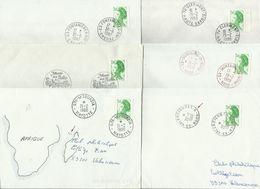 FRANCE 1987 N° Y&T 2484 Et 2487 LIBERTE 2 Francs Vert - Oblitérations à Examiner- 6 Scans - 1982-90 Liberty Of Gandon