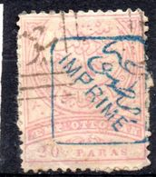 """Türkei, 1891, Freimarke M. Blauem Aufdruck """"IMPRIME"""", 20Pa., Gestempelt, MiNr. 65 (16377E) - 1858-1921 Ottoman Empire"""