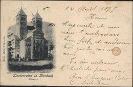 CPA Klosterruine In Murbach Elsass Circulée 1899 - Murbach