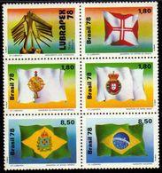 Brasil C 1055/59 Bandeiras Históricas Sextilha 1978 NNN - Brasilien
