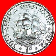√ SHIP: SOUTH AFRICA ★ 1 PENNY 1955! LOW START ★ NO RESERVE! - Afrique Du Sud