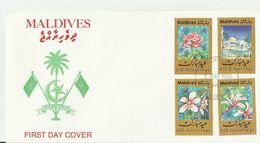 MALEDIVEN  FDC 1995 BLUMEN - Malediven (1965-...)