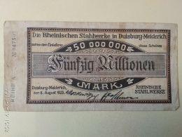 Duisburg  50 Milioni Mark 1923 - [11] Emissioni Locali