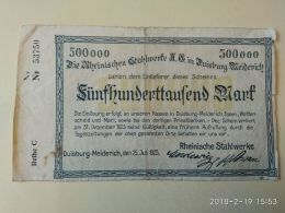 Duisburg  500000 Mark 1923 - [11] Local Banknote Issues