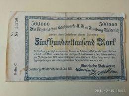 Duisburg  500000 Mark 1923 - [11] Emissioni Locali