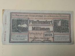 Duisburg  500 Milioni Mark 1923 - [11] Emissioni Locali