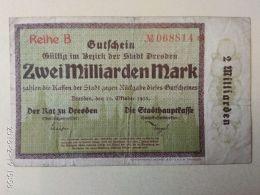 Dresden 2 Miliardi Mark 1923 - [11] Emissioni Locali