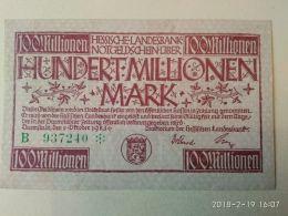 Darmftadt 100 Milioni Mark 1923 - [11] Emissioni Locali