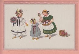 OLD POSTCARD - CHILDREN  - MEISSNER BUCH SERIE  2395  - BRINGING ROSES - Illustratori & Fotografie