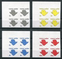 2015 GB Wales Anglesey Local Post Definitives Maps 4 IMPERF Blocks Of 3 - Local Issues