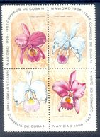 A164- Cuba 1966 Orchideen Orchid Orkid. Flowers. Light Hinged. - Plants
