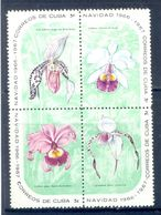 A165- Cuba 1966 Orchideen Orchid Orkid. Flowers. Light Hinged. - Plants