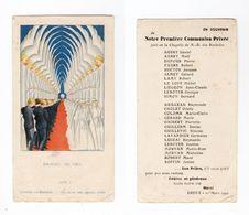 Dreux, Chapelle Notre-Dame Des Rochelles, 1re Communion Privée Collective 1942, 25 Noms - Devotion Images
