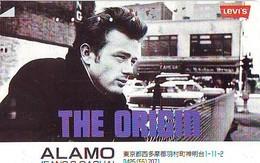 PHONECARD Japan * Vedette De Cinéma  * JAMES DEAN (69) Télécarte JAPON MOVIE *  * TELEFONKARTE * FILM * LEVI'S * MOVIE - Cinema