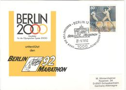 GERMANY Olympic Card Berlin Candidate Olympic Games 2000 With Cancel Berlin Marathon - Summer 2000: Sydney