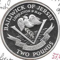 *jersey 2 Pounds 1995 Silver Km 92a  Proof - Jersey