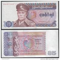 Burma P 63 - 35 Kyats 1986 - UNC - Myanmar