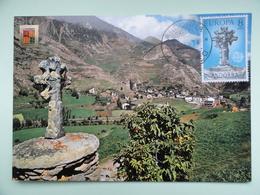 CARTE MAXIMUM CARD CROIX DES SET BANYE ANDORRE - Skulpturen