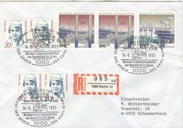 GERMANY Registered Cover With Cancel Berlin Candidate Olympic Games 2000 86 Int. Tennis Championship Germany Ladies - Summer 2000: Sydney