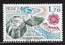 N° 2047  FRANCE  - OBLITERE -  EUROPA BOULES DE MOULIN -  1979 - France