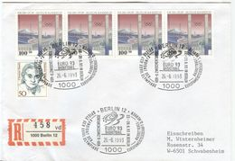 GERMANY Registered Cover With Cancel Berlin Candidate Olympic Games 2000 Euro 93 Basketball - Summer 2000: Sydney