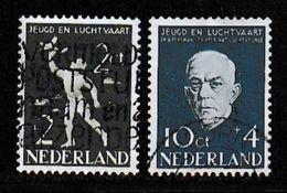 NEDERLAND, 1954 Luchtvaart Serie Used Mi 644-645 # 206 - Period 1949-1980 (Juliana)