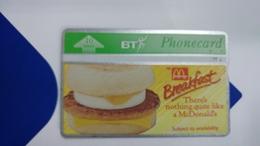 United Kingdom-(bta065)-mcdonalds(4)-sausage & Egg-(10units)-(368b)-price Cataloge3.00£-card+1card Prepiad Free - BT Advertising Issues