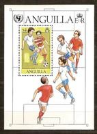 Anguilla 1981 Yvertn° Bloc 39 ***  MNH Cote 5,50 Euro Unicef Sport Football Soccer - Anguilla (1968-...)