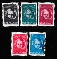 NEDERLAND 1945 Kinder Serie 444-448 Used  # 1147 - Used Stamps