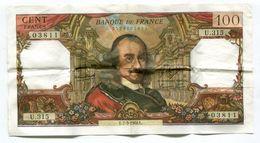 Billet De 100 F  Corneille PAS  De Trou D'épingle  1968  Bel état - 1962-1997 ''Francs''