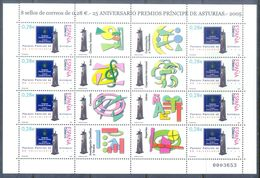 A215- SPAIN . 2005. 25th ANNIVERSARY OF PRINCE OF ASTURIAS PRIZE. 25 ANIVERSARIO DE LOS PREMIOS PRINCIP. - Spain