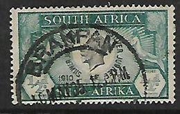 S.Africa BRAKPAN 10 MY 35 , Postmark On 1/2d  Silver Jubilee  Single - Zuid-Afrika (...-1961)