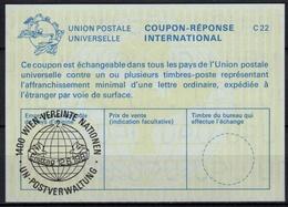 UNITED NATIONS VIENNA  GLOBUS UND TAUBEN  O ERSTTAG 12.06.87 ( No. 2 ) On Int. Reply Coupon Reponse IRC IAS Antwortschei - Pigeons & Columbiformes