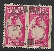 S.Africa DURBAN 27 V 44 On 1d Small War Effort Pair (not Unit Of 3) - Zuid-Afrika (...-1961)