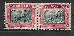 S.Africa 1938 Voortrekker Centenary 1d Pair MH * , Rubbed - Zuid-Afrika (...-1961)