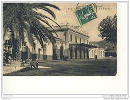CANNES LA GARE LA FACADE CPA BON ETAT - Cannes